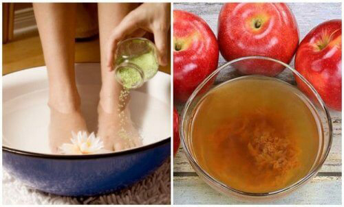 Cách trị ra mồ hôi chân bằng giấm táo